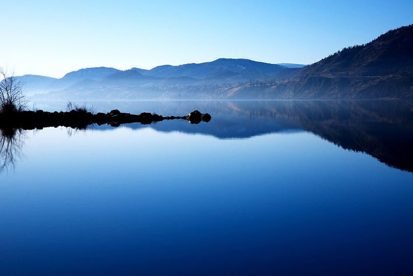 A still morning on Skaha lake at the south end of Penticton | Credit: Darren Kirby CC BY-SA 2.0 Wikimedia