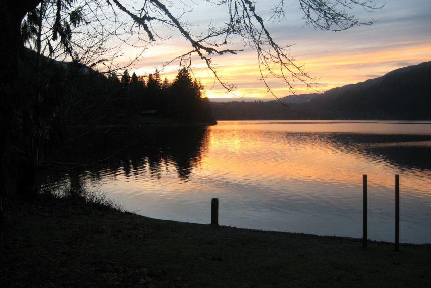 Winter Sunset at Cultus Lake