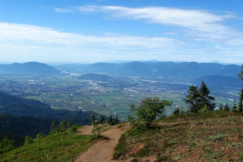 View of the Fraser Valley from Elk Mountain