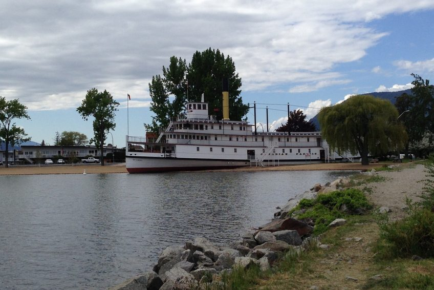 The historic SS. Sicamous steamwheeler and museum on Okanagan Lake