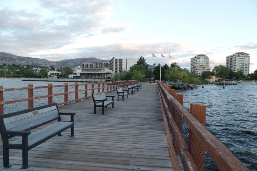 Kiwanis Walking Pier on Okanagan Lake