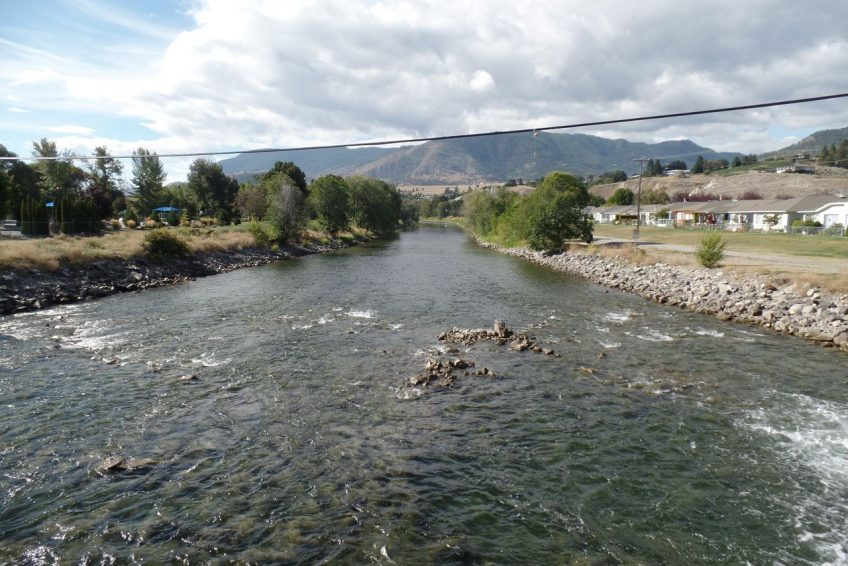 Okanagan River runs the length of the city - popular for tubing in the summertime