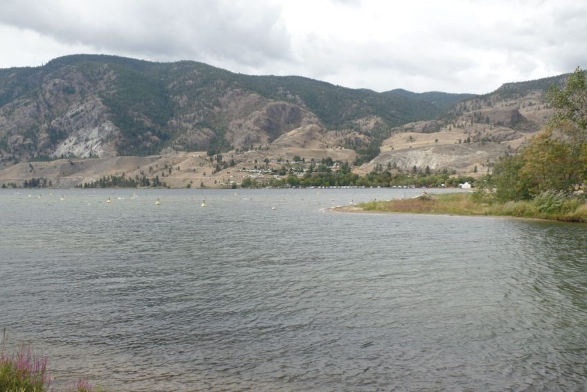 Outflow of Okanagan River into Skaha Lake