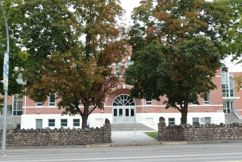 Former Penticton Secondary School circa 1921, historic Shatford Centre is now Okanagan School of the Arts