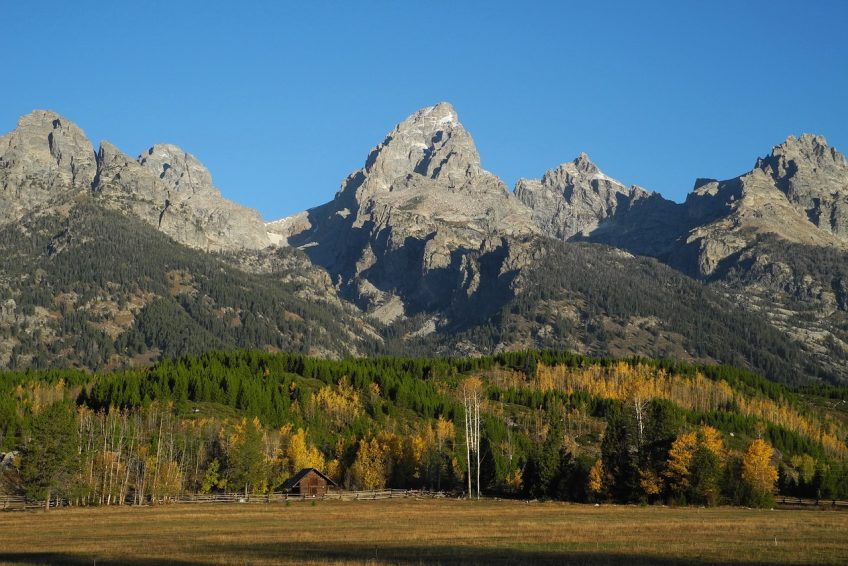 The breathtaking Grand Tetons are a little north of town