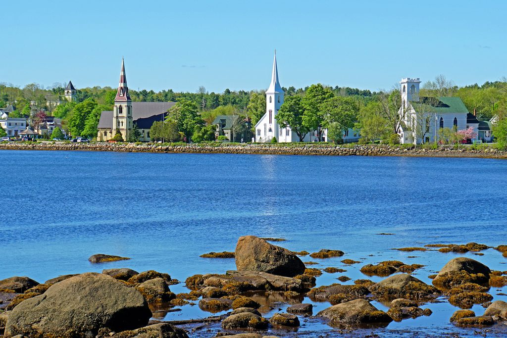 Three Churchs of Mahone Bay Nova Scotia