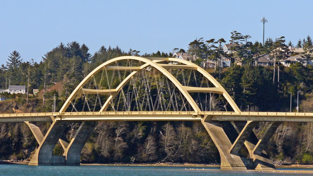 Alsea Bay Bridge Waldport Oregon