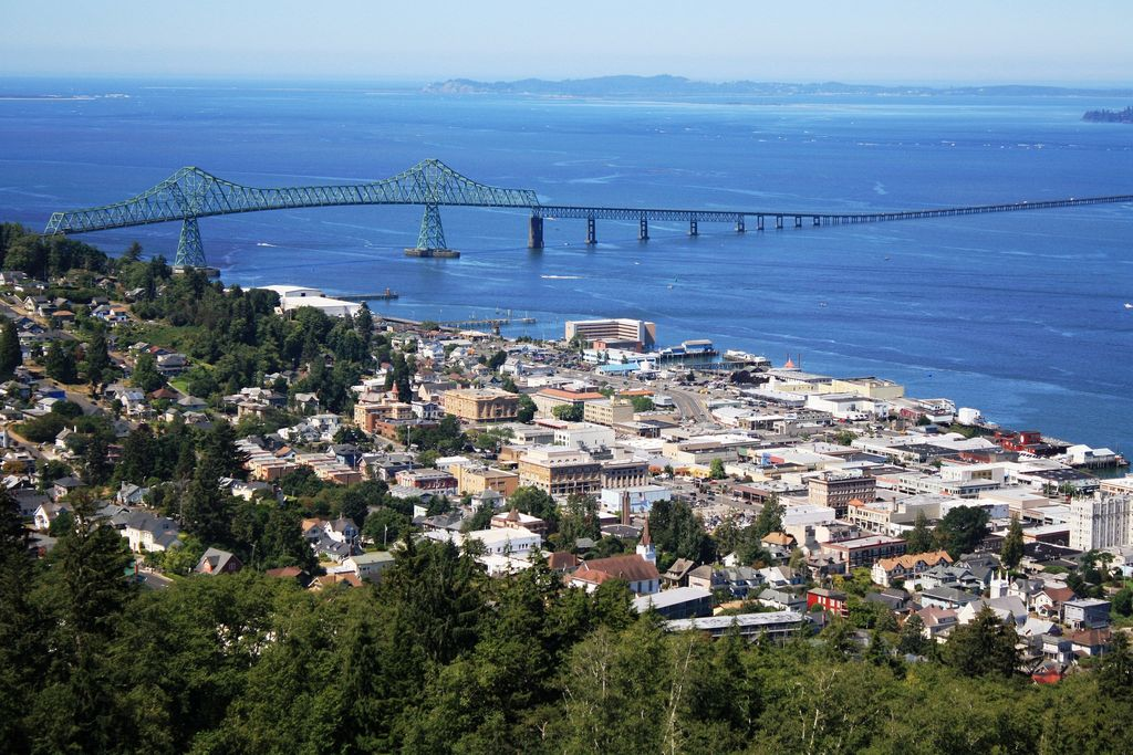 View of Astoria from the historic Astoria Column