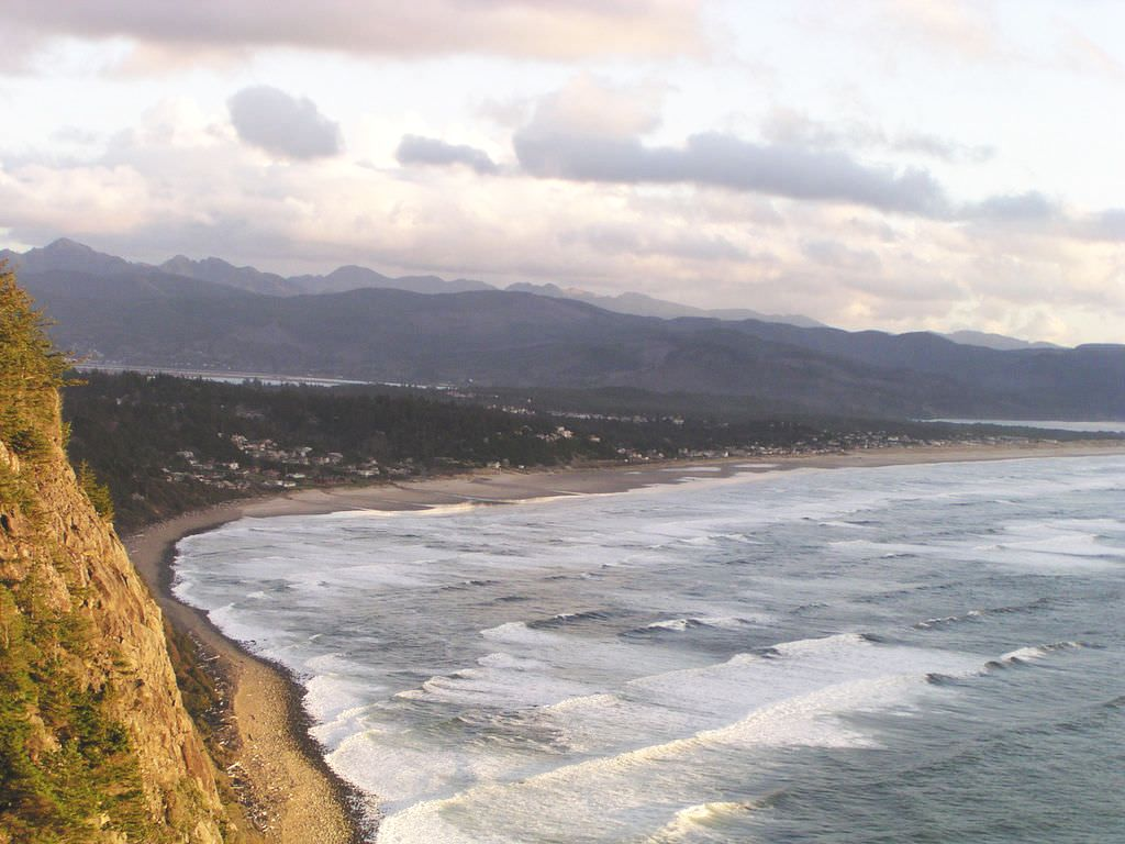 Looking south toward Manzanita Oregon