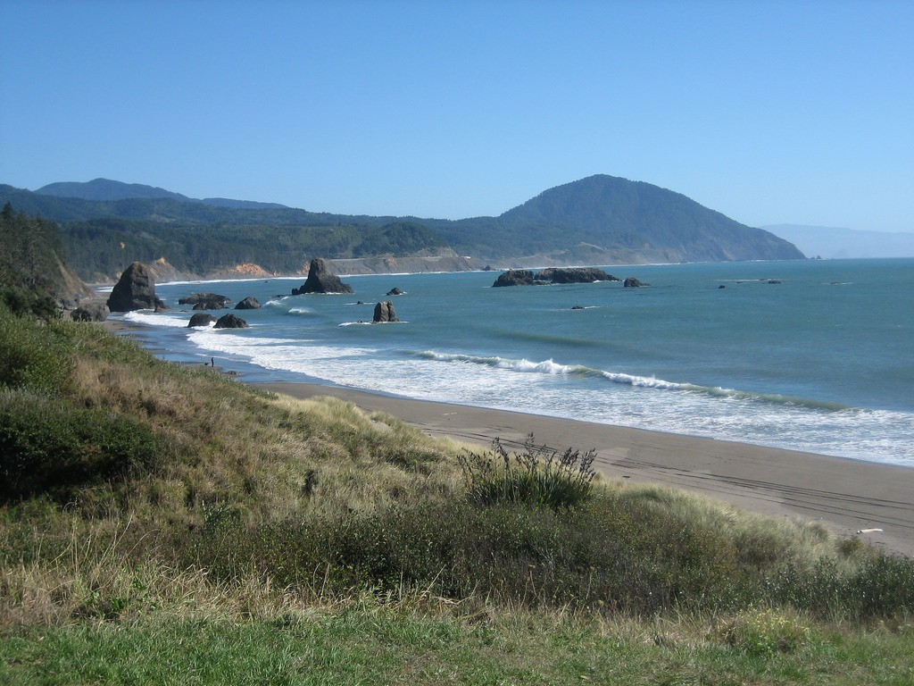 Beach and view from Port Orford Oregon