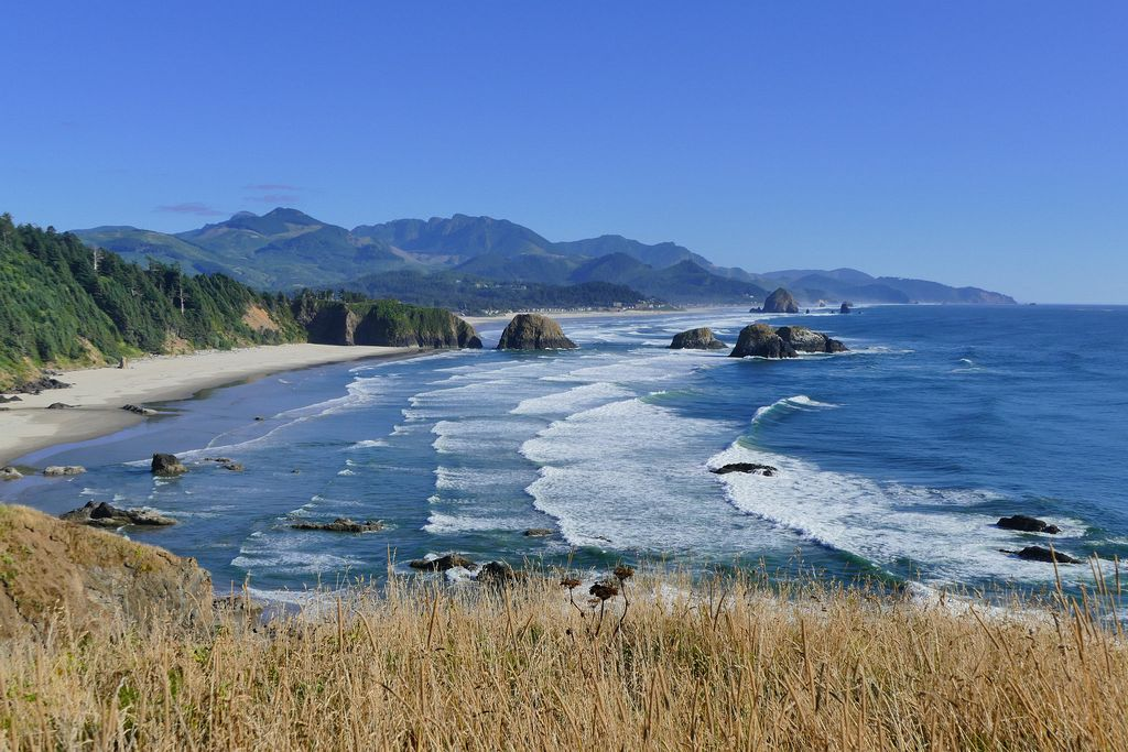 Looking south toward Cannon Beach