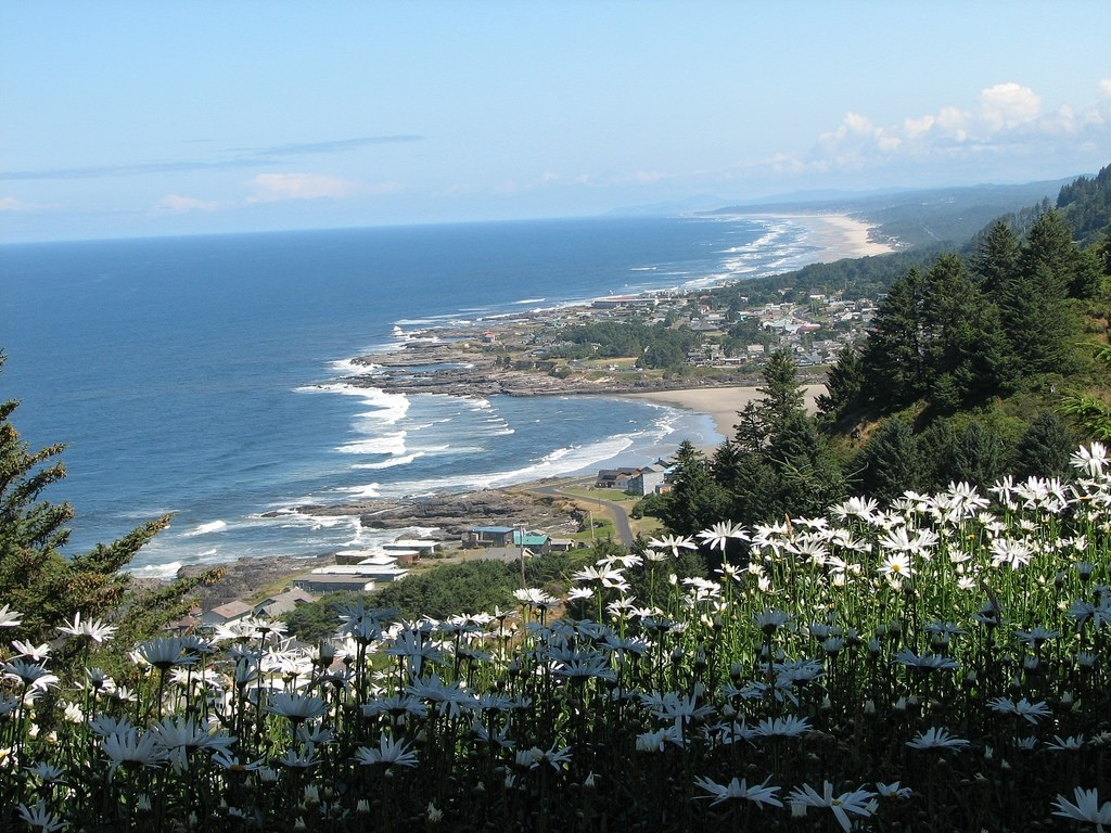 Beautiful view of Yachats from the hillside