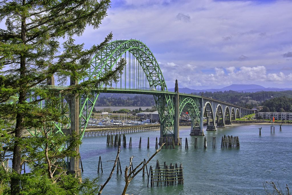 Yaquina Bay Bridge Newport Oregon