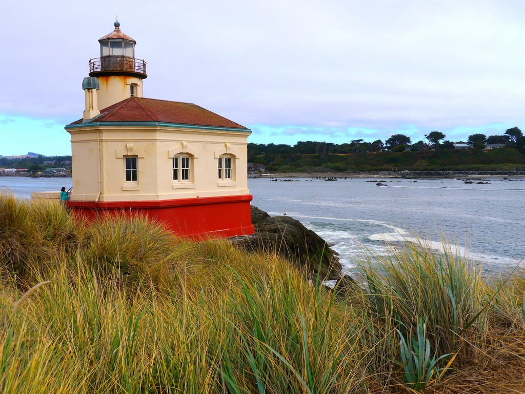 Coquille River Lighthouse near Bandon Oregon
