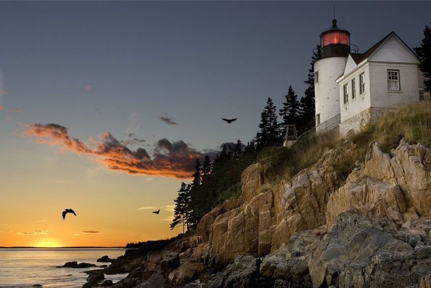 Acadia Park Bar Harbor lighthouse