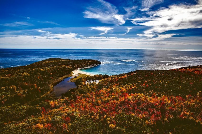 Beautiful-Acadia National Park in the Fall