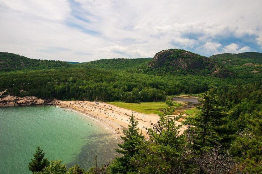 Coastal Beach in Acadia Park near Bar Harbour