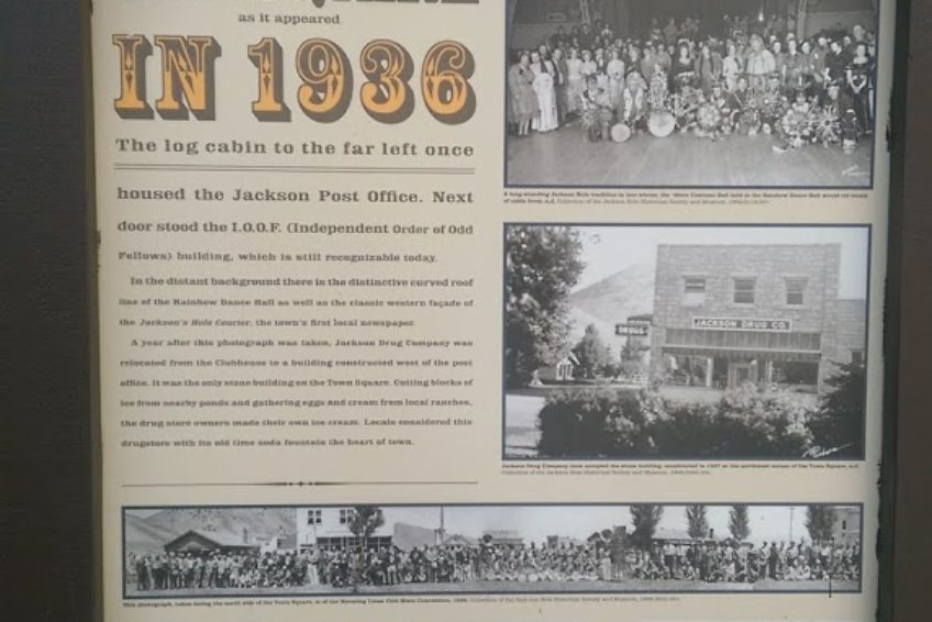 Information sign in Jackson Town Square