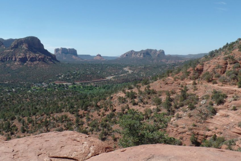 Looking toward the Village of Oak Creek from atop AirportVortex in Sedona