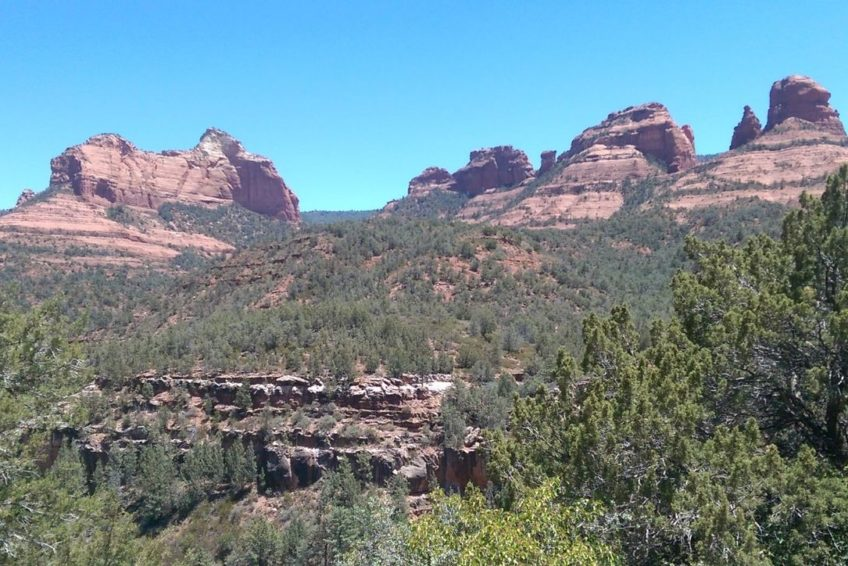 Approaching Sedona from the north on scenic Route 89A