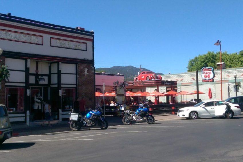 The popular Cruisers Cafe 66 in Williams Arizona