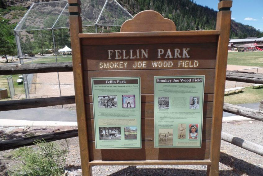 Information sign in Fellin Park Ouray