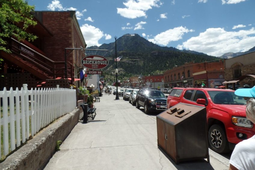Looking south on Main Street in Ouray