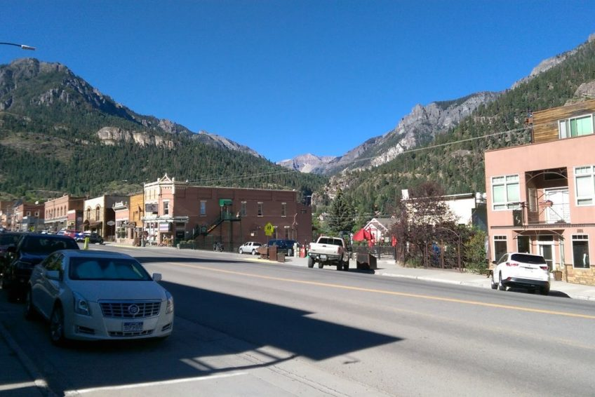 Looking up Main Street in Ouray
