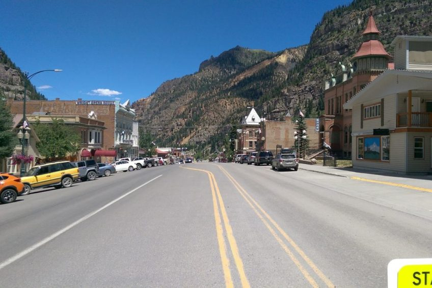 Looking North on Main Street in Ouray