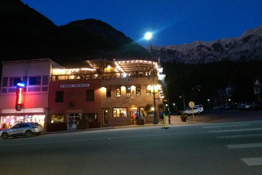 Ouray Brewery at night