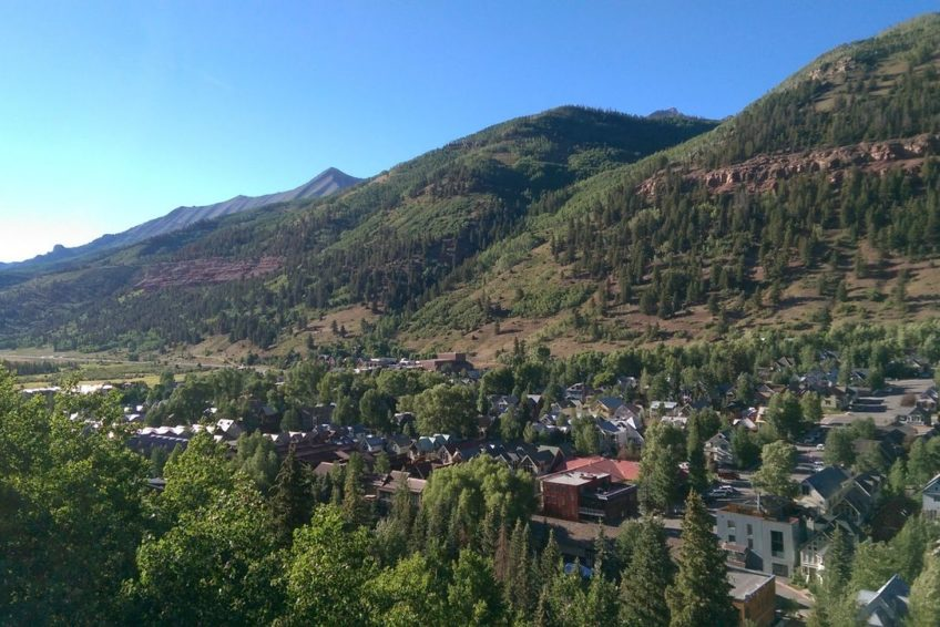 Overlooking the west end of Telluride