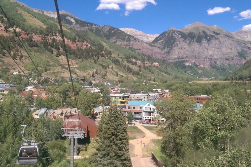 Approaching the lower gondola station in Telluride