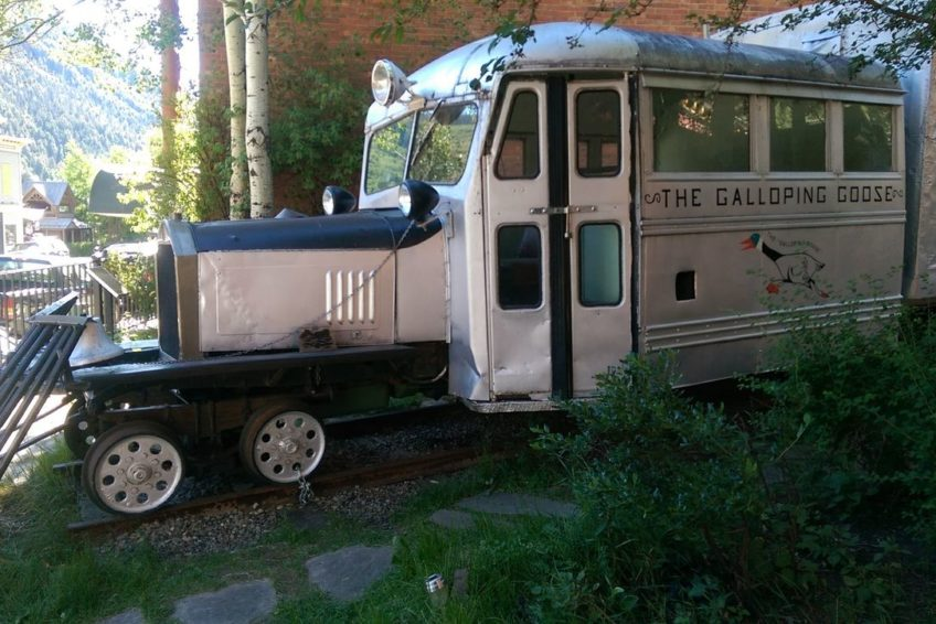 The very rare a galloping goose truck train hybrid