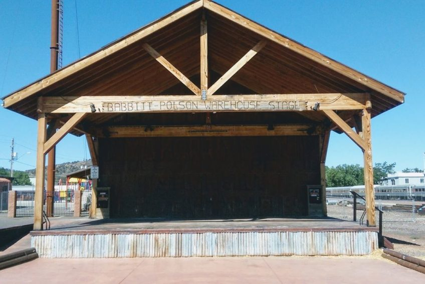 Turn-of-the-century Babbitt Polson warehouse stage in Williams Arizona