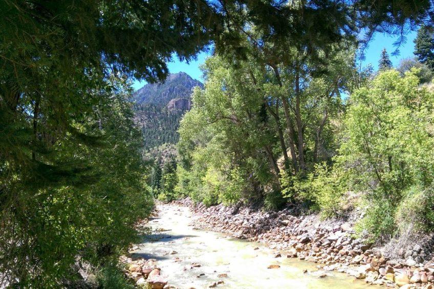 Uncompahgre River in Ouray Colorado