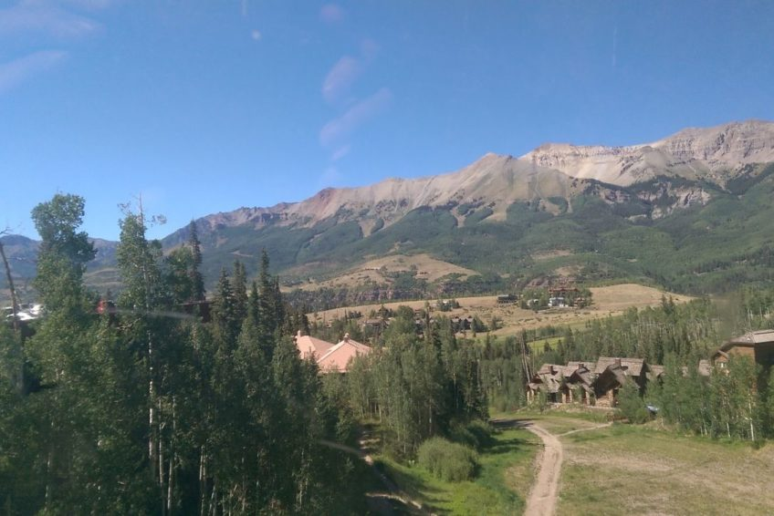 Spectacular view from Mountain Village above Telluride