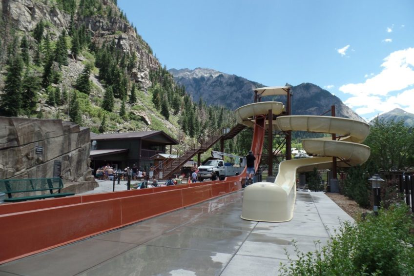 Water slide at Ouray Hot Springs Pool