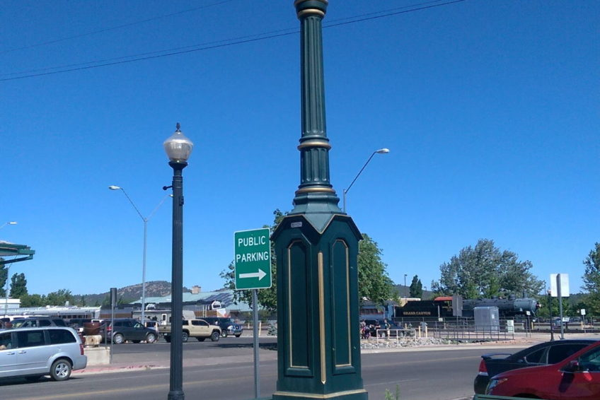 Town clock in Williams Arizona