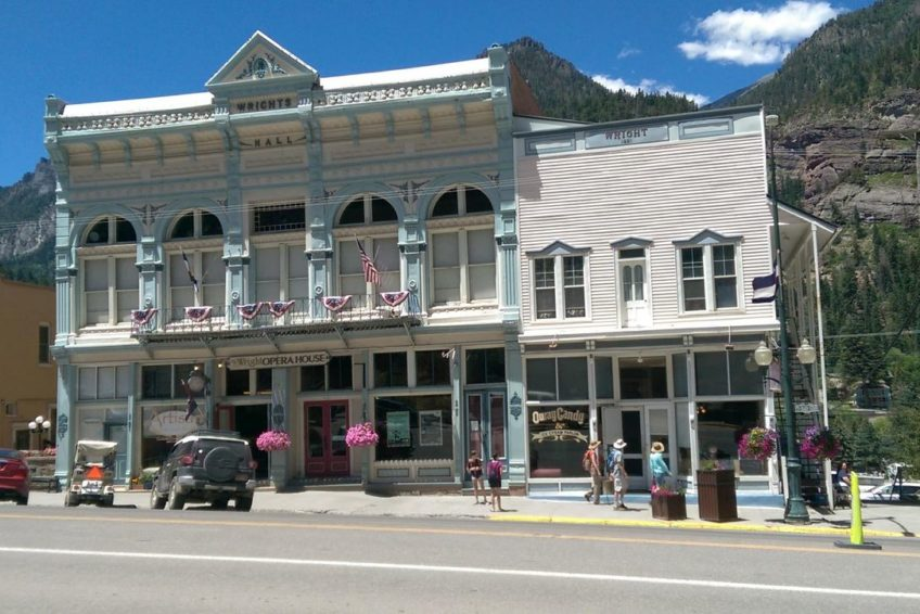 Wrights Hall and Opera House in Ouray Colorado
