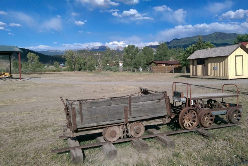 Old mining train at the Ouray County Ranch history Museum