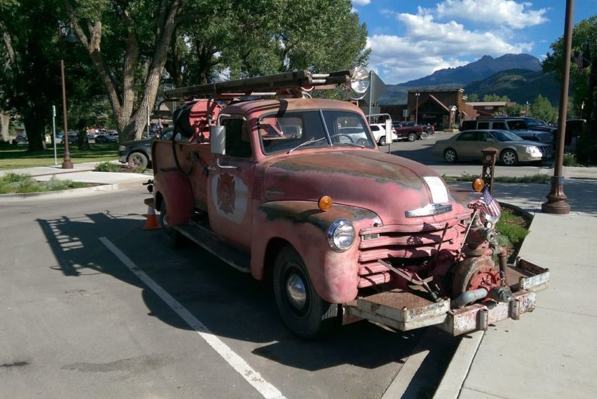 Antique fire truck in Ridgway Colorado