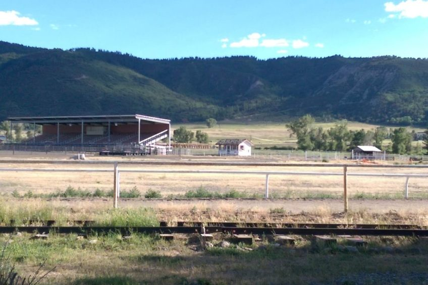 Grandstand at the Ouray County Fairgrounds in Ridgeway