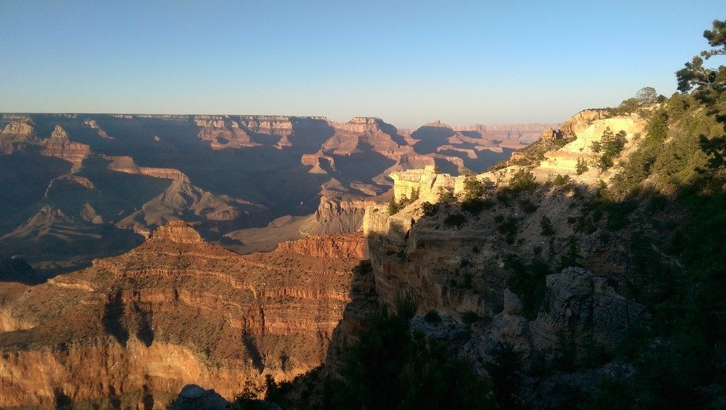 Grand Canyon from the Village at sunset