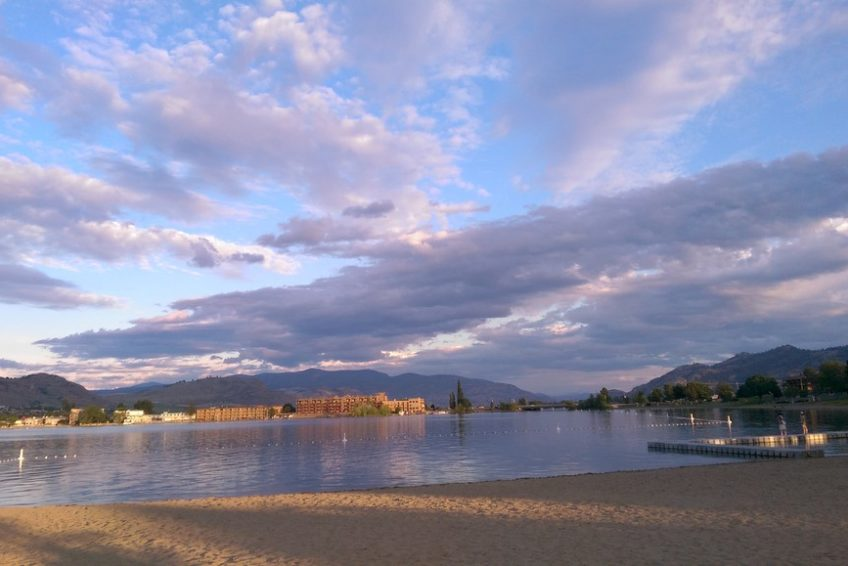 Looking toward the Osoyoos narrows from Gryo Beach