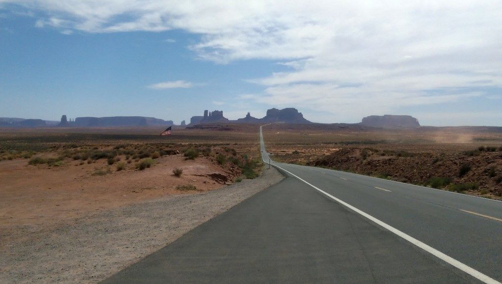 Looking south toward Monument Valley