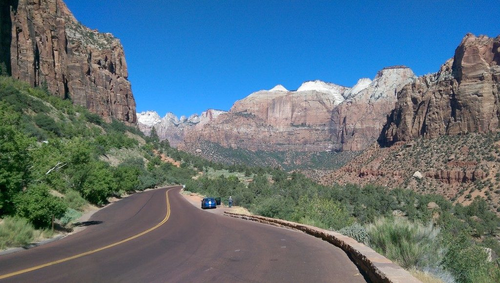 View from Zion - Mount Carmel Highway